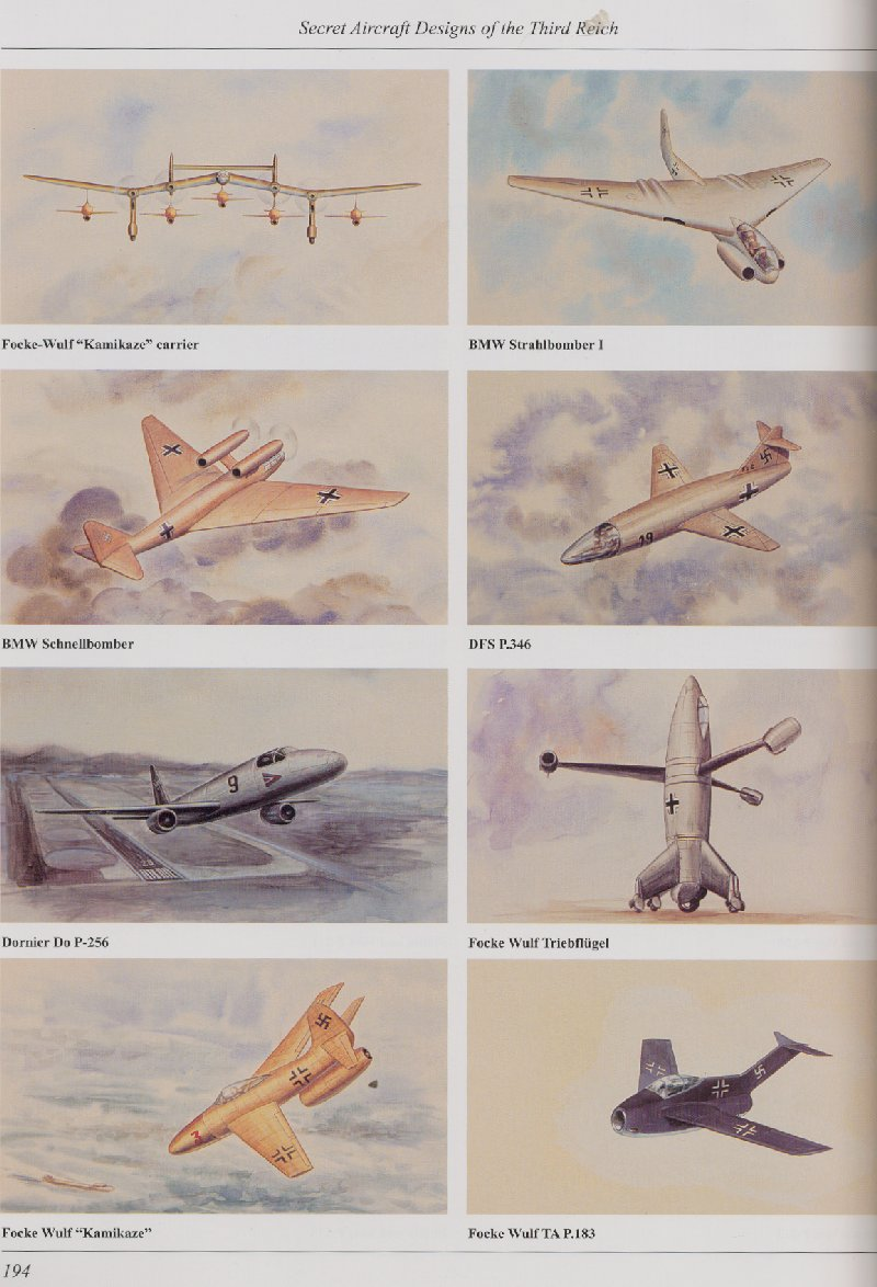 Luft 46 models bibliography secret aircraft designs of for Secret design